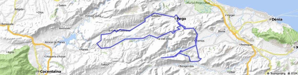 ZNUEVA. Pego-VallGallinera-Valld'Ebo-Benimaurell