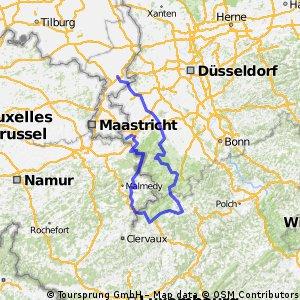 Van Aachen via St Vith naar Roermond