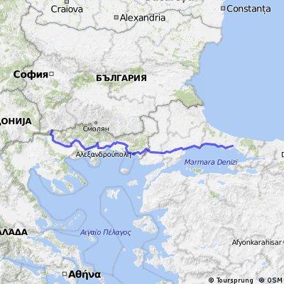 Istanbul - Greece - Bulgaria 662km 3510hm
