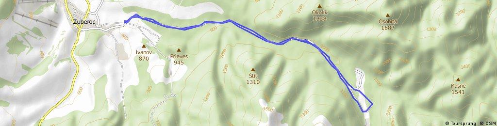 Cyklo trasa Zuberec - Spálená dolina