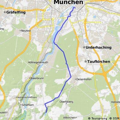 deininger weiher nach München  Haidhausen