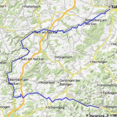 Schlichem-Epfendorf-Horb-Rottenburg-Tübingen