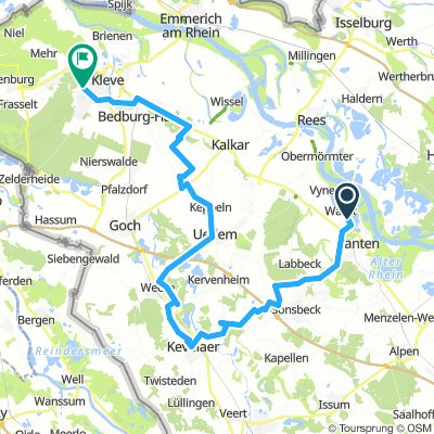 Niederrhein Tour 2: Xanten - Kleve  (🚴♂️ 15.8.2015)