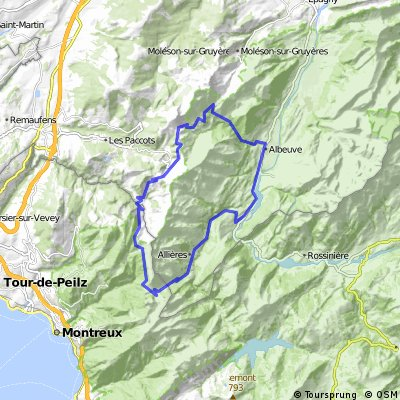 Montbovon-Col de Jaman-Col de Soladier-Belle Caux by mnh