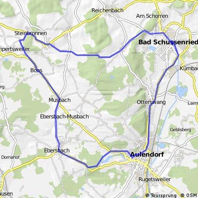 Bad Schussenried nach Aulendorf 29km
