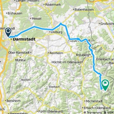 Strecke Instron - Vielbrunn