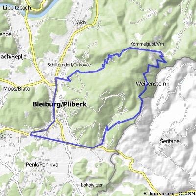 Bleiburg-Gajschek-Zollhütte-Einersdorf