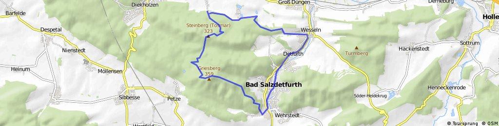 MTB-Tour vom Söhrer Forsthaus über Tosmar, Fernsehturm, Griesbergtrail, Flugplatz, Hexenhaustrail