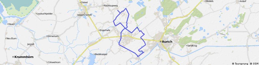 Rahe, Upstalsboom, Rundtour 1