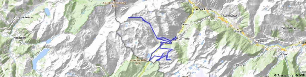 Above Petit St Bernard to Col Fourclaz, Colle Belvedere, and Col des Chavannes