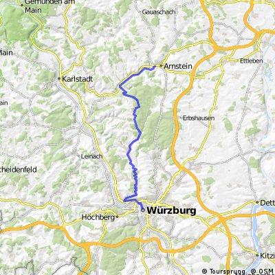 Würzburg - Dürrbachau - Güntersleben - Binsfeld - Arnstein
