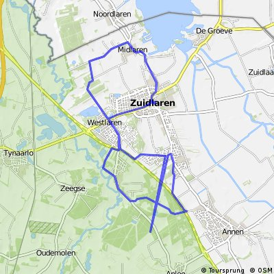 Fietsroute Zuid Laren Schipborg Zuidlaren
