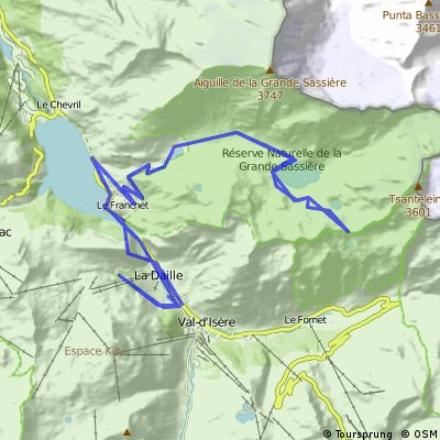 Cycling routes and bike maps in and around Val dIsre Bikemap