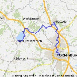 Ostfriesland Etappe 9 Bad Zwischenahn-Oldenburg
