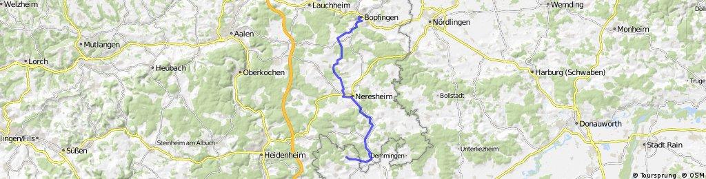 Zöschingen to Bopfingen