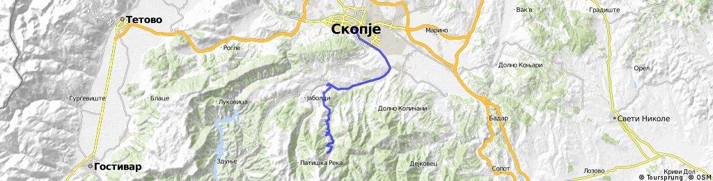 Skopje-Crn Vrv   Bikemap - Your bike routes