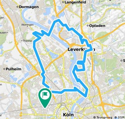 Bickendorf - Mühlheim - Hitdorf - Blumenberg - Longerich - Bickendorf
