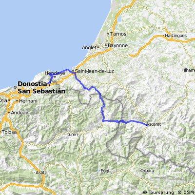 La Route des Cols - Etapa 1 - Irun - Saint-Jean-Pied-de-Port