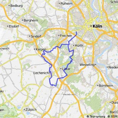 Erlebnisroute Südwest - Vom Decksteiner Weiher zum Naturparkzentrum Gymnicher Mühle und zum Friesheimer Busch
