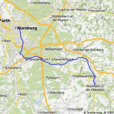 Ludwig-Main-Donau Kanal Nürnberg bis Neumarkt