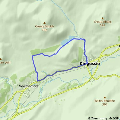 Kingussie, Loch Gynack and Newtonmore