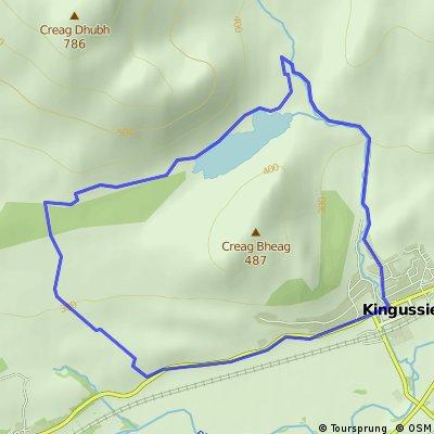Kingussie, Ballachroan and Loch Gynack north-side