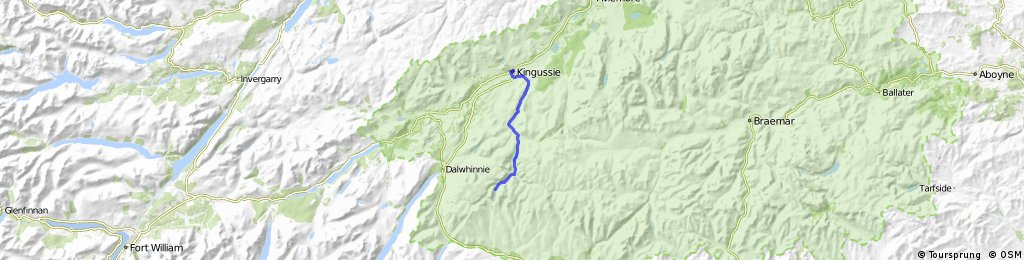 Kingussie, Glen Tromie and Gaick