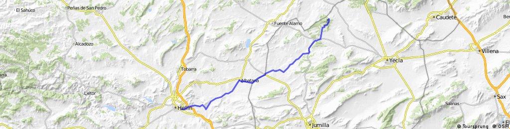 Hellín - Albatana - Monte Arabí (Yecla)