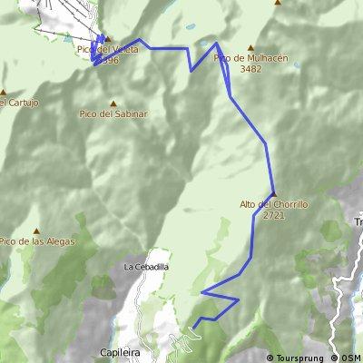 Capileira - Pico veleta  ida y vuelta