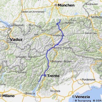"""Transalp """"Tegernsee -Gardasee"""""""