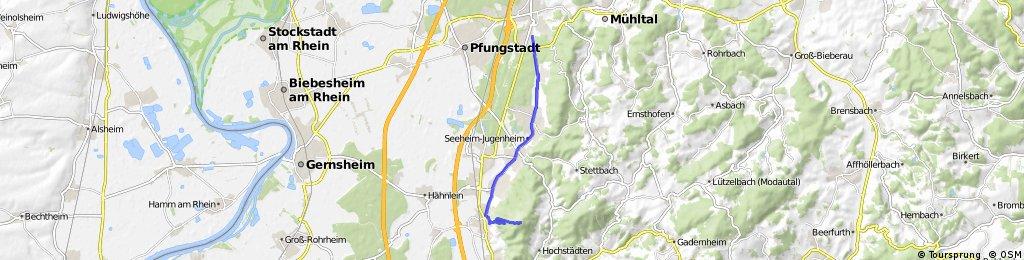 Map Zwingenberg Germany.Eberstadt Mellibokus Uber Zwingenberg Bikemap Your Bike Routes