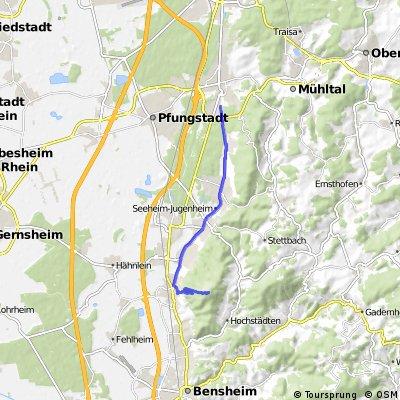 Eberstadt Mellibokus über Zwingenberg