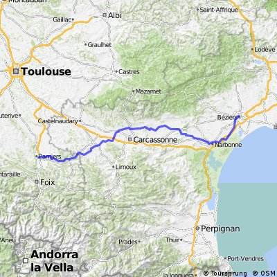 Cycling routes and bike maps in and around Bziers Bikemap Your