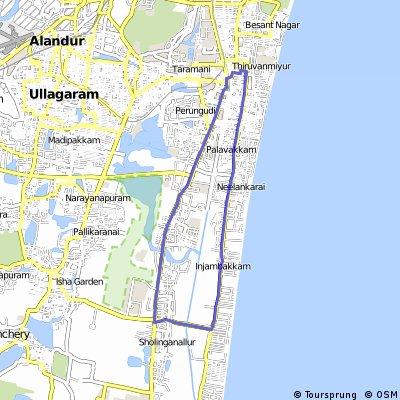 OMR - Sholinganallur - VGP- Thiruvanmiyur Loop