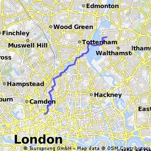 Higham Hill to Gray's Inn Road