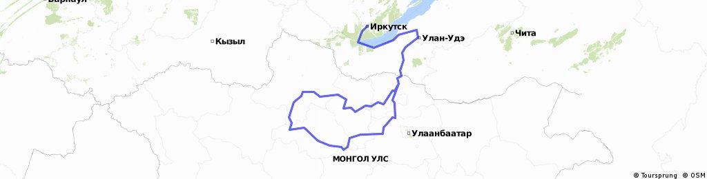 Rosja i Mongolia 2600 km