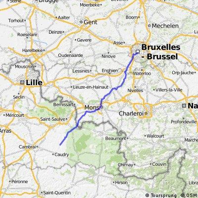 PANAME AMSTERDAM Etape 3: Cambrai / Brussels