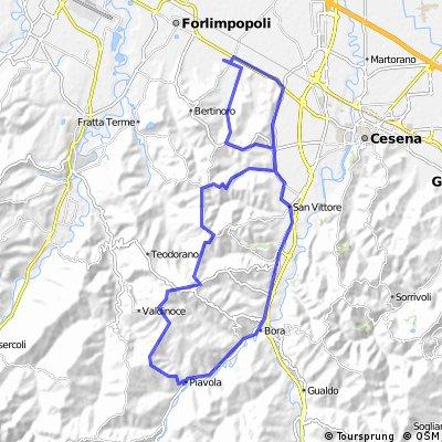 Panighina - Bracciano - Paderno - Collinello -Tessello - Monte Cavallo - Piavola - Borello - San Carlo - San Vittore - Settecrociari - Panighina