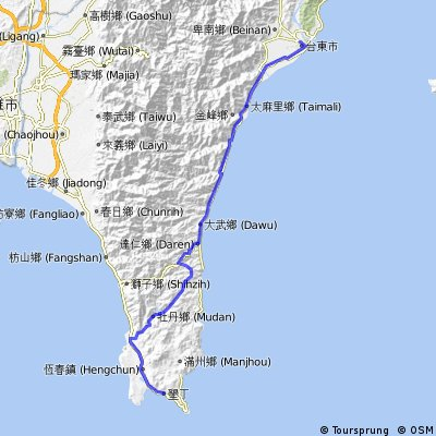 Taitung to Kenting