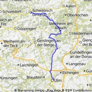 Ulm -Söntstetten- Schwäbisch Gmünd