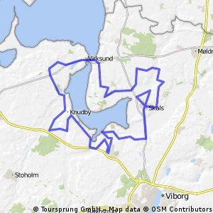 Hjarbæk fjord Rundt 68km 700hm