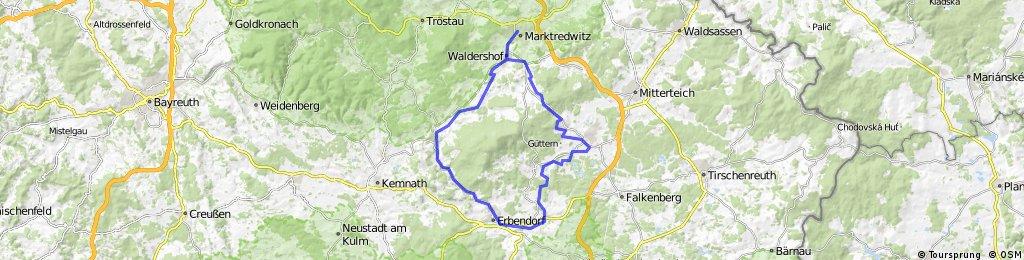 ADFC-Hof: Rund um den Steinwaldradweg und Fichtelnaabradweg