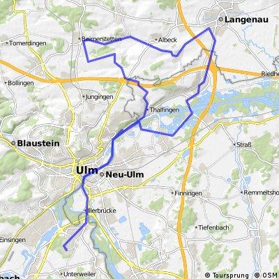 Einstein Triathlon Radstrecke