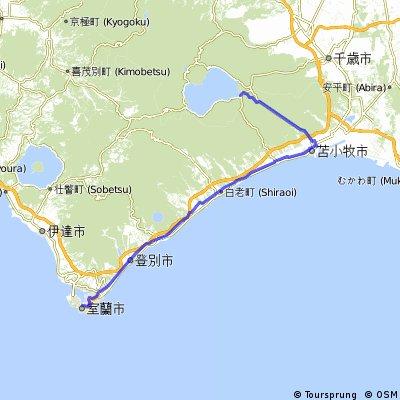 0929支笏湖-室蘭市95km
