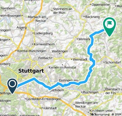 61km: Vaihingen nach Althütte