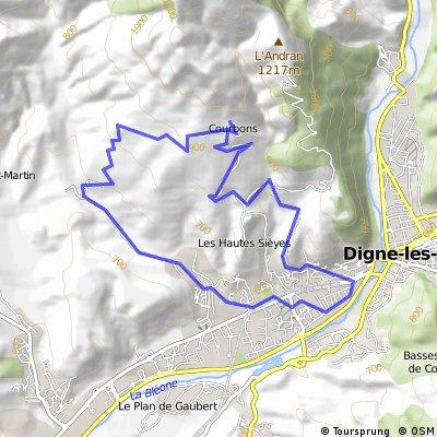 Courbon; 13km  -  508m Höhenunterschied