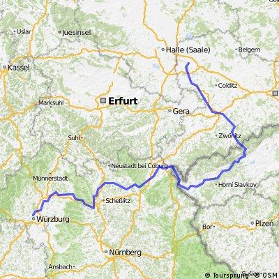 2015 - Würzburg - Schweinfurt - Bamberg - Lichtenfels - Kulmbach - Hof - Aš - Cheb - Karlovy Vary - Klášterec nad Ohří - Chemnitz - Leipzig