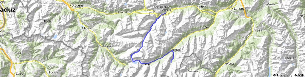 AlpX2009 Tag1: St. Anton - Ischgl - Bodenalpe