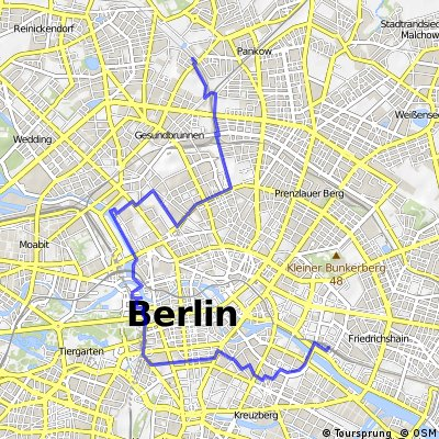 Radtour entlang der Berliner Mauer