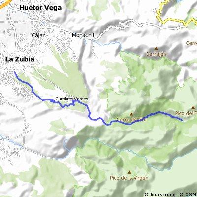La Zubia - La Cortijuela (a través del pinar)